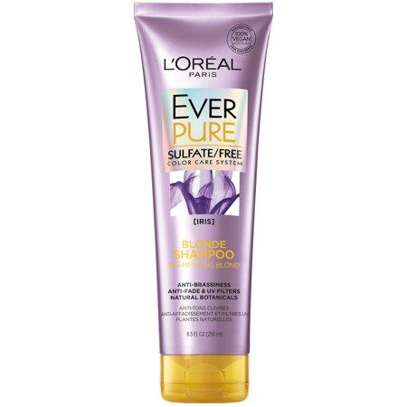 L'Oreal Paris EverPure Blonde Shampoo Sulfate Free, 8.5 fl. oz. Blonde Color Enhancing Shampoo
