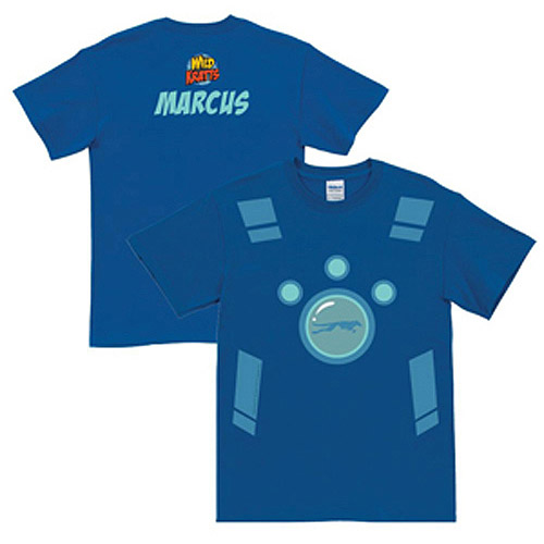 Personalized Wild Kratts Creature Power Suit Royal Blue Adult T-Shirt