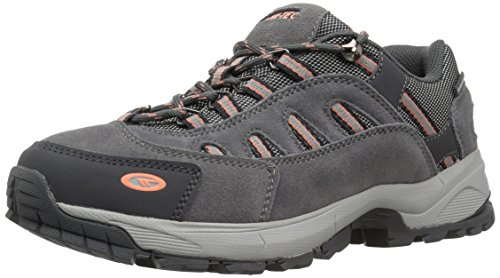 Hi-Tec Women's Bandera Ultra Low Waterproof Backpacking Boot, Steel Grey Grey Papaya Punch, 8.5 M US by Hi-Tec