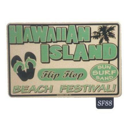 Seaweed Surf Co SF88 12X18 Aluminum Sign Hawaiian Island (Hawaiian Seaweed)