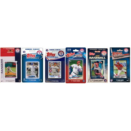 Trading Card Team Set (2018 MLB Texas Rangers 6 Different Licensed Trading Card Team Sets)