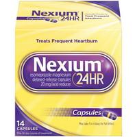 Nexium 24HR Delayed Release Heartburn Relief Capsules, Esomeprazole Magnesium Acid Reducer (20mg, 14 Ct)