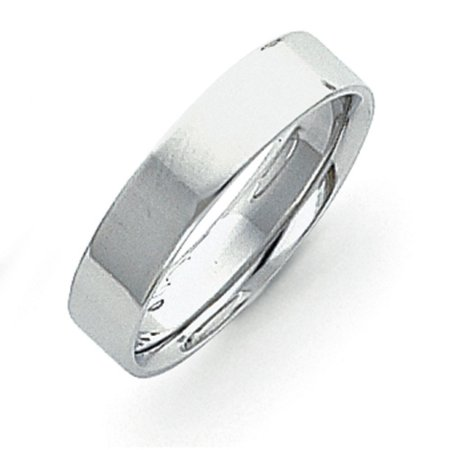 Platinum 5mm Flat Size 9 Wedding Band