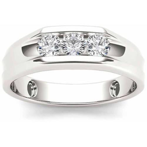 Imperial 1/2 Carat T.W. Diamond Men's 14kt White Gold Ring