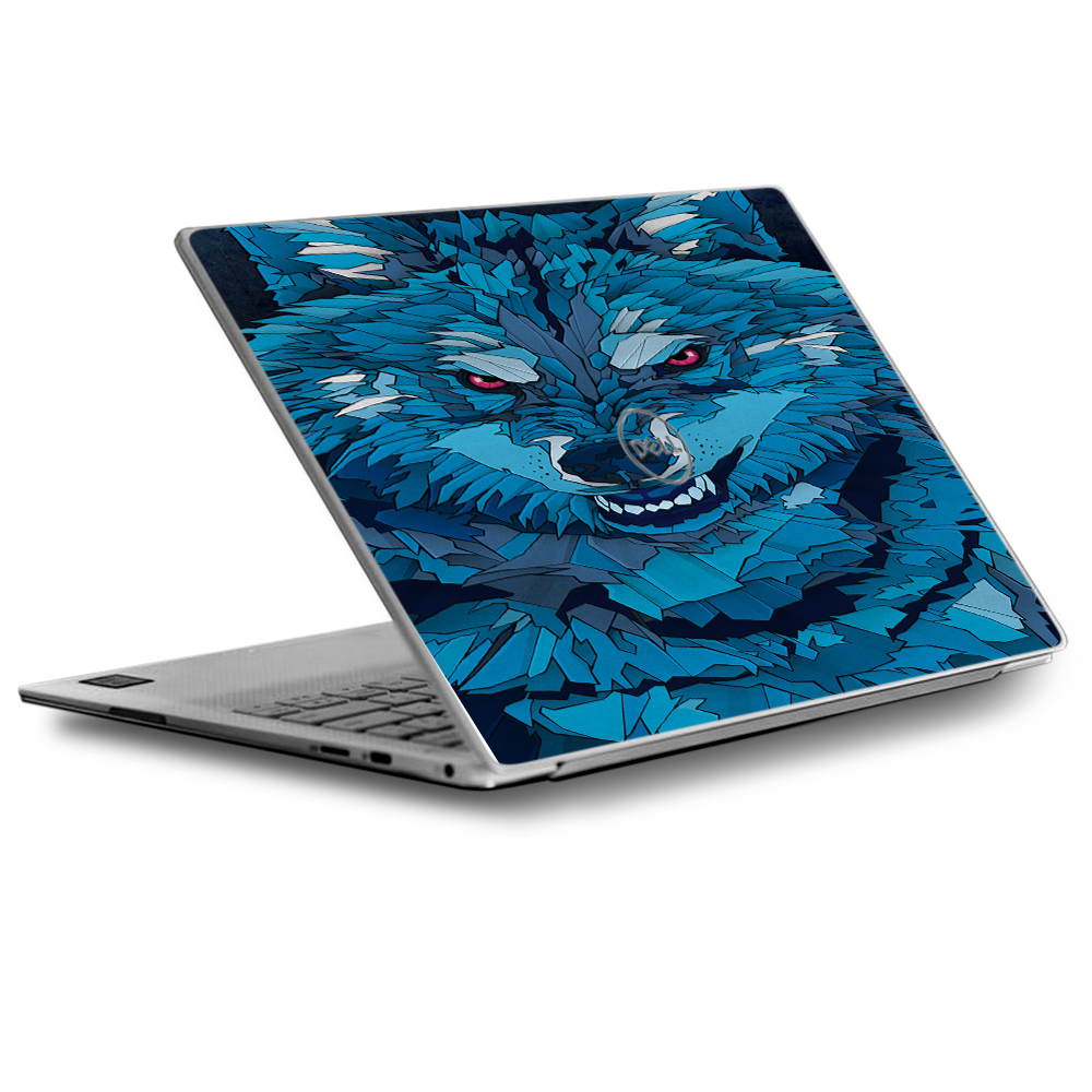 Skins Decals for Dell XPS 13 Laptop Vinyl Wrap / Blue Wolf