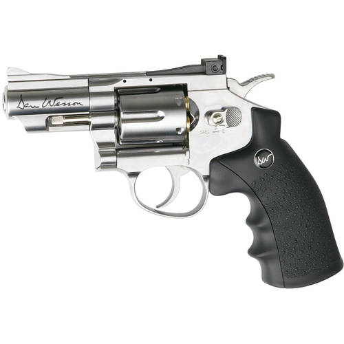 """ASG Dan Wesson 2.5"""" CO2 Powered Pellet Air-Revolver, Silver by Generic"""