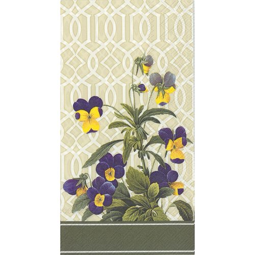 4 PACKS PAPER GUEST TOWELS TRELLIS PANSY 4 Packs Paper Guest Towels Trellis Pansy by Generic