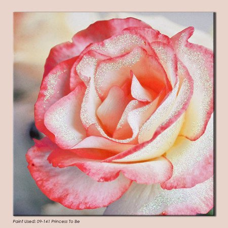 ... Petal Rose with Glitter Photographic Print on Canvas - Walmart.com
