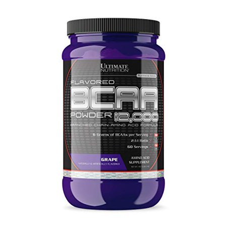 Ultimate Nutrition Flavored BCAA 12,000 Powder - Amino Acid Supplement for Muscle Building and Recovery, Grape, 60 (Best Muscle Building Supplements For Women)