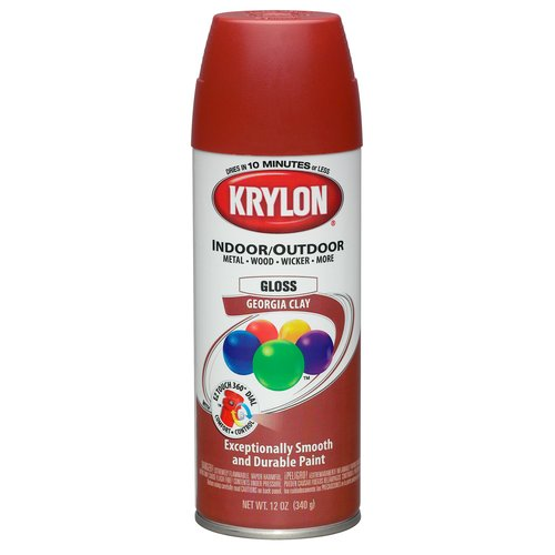 Krylon Division 53531 12 Oz Georgia Clay Gloss Indoor & Outdoor Spray Paint - Pack of 6
