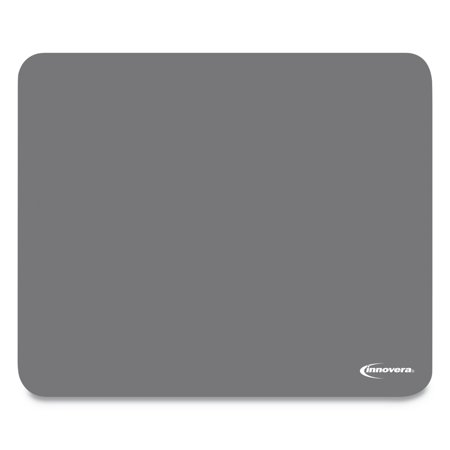Genuine Leather Mouse Pad (Innovera Latex-Free Synthetic Rubber Mouse Pad, Gray)