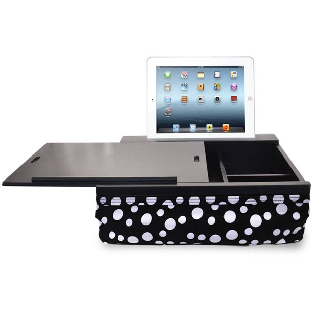 Icozy Portable Cushion Lap Desk With, Icozy Lap Desk With Storage Compartments