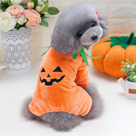 Cute Halloween Pumpkin Cool Cute Dog Pet Cosplay Costume Coral Velvet Clothing](Halloween Pumpkins Cool)