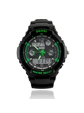 91b30cac302 Product Image Mens Fashion Waterpoof Analogue Military Digital LCD Alarm  Date Army Rubber Sport Watch Wristwatch