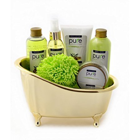 Gift Baskets Canada Spa - Pure Deluxe Spa Gift Basket- Hydrating Olive Oil Skin Therapy Kit Luxury Gift - Wrapped And Ready to Deliver Results!