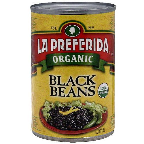 La Preferida Organic Black Beans, 15 oz (Pack of 12)