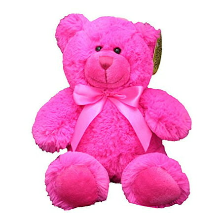 Anico Plush Toy Bright Bear, Stuffed Animal, Hot Pink, 8 Inches Tall - image 1 of 1