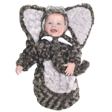 Elephant Baby Halloween Costume (Grey Elephant Plush Bunting Baby Animal Infant Halloween)