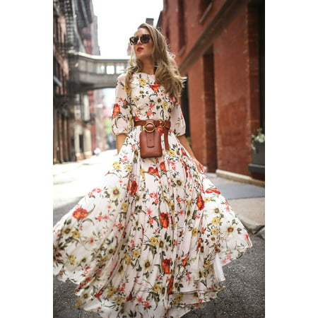 Senfloco Bohemian Long Maxi Dresses, Floral Holiday Sundress, Vintage Ladies Girls Summer Evening Party Dress, Beach Dresses, Plus Size - Bohemian Girl Dresses