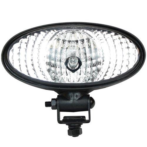 Work Light - Hella - 12V DC, Halogen, Oval 90, Pedestal Mount, Flood, New, John Deere, RE573609
