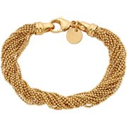 18kt Gold-Plated Multi-Strand Bracelet