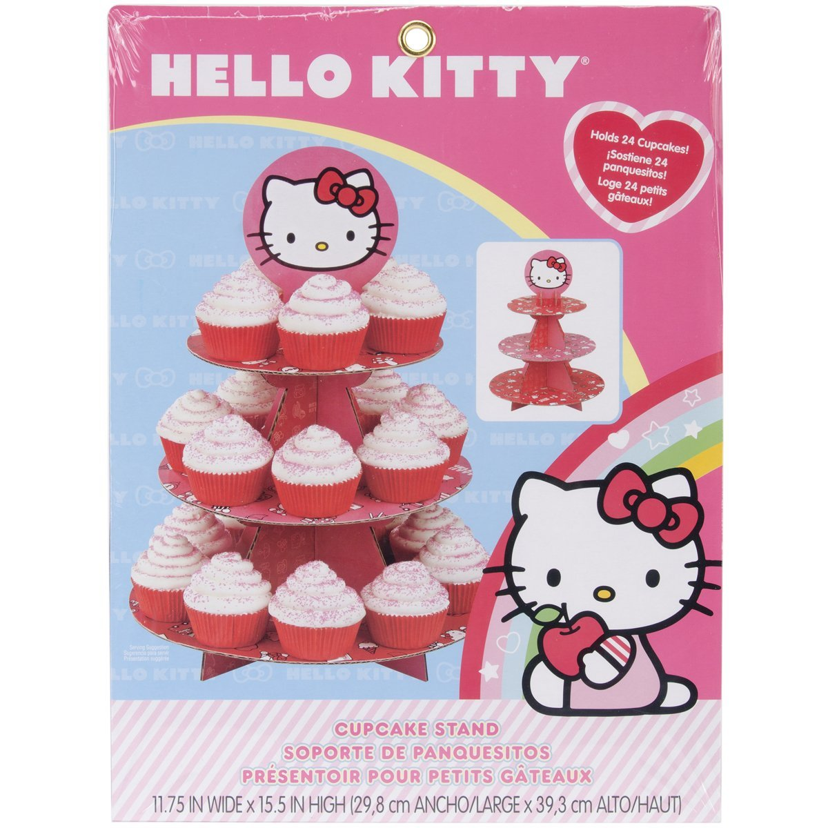Wilton 3-Tier Treat Stand, Hello Kitty 24 ct. 1512-7575