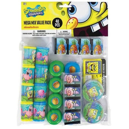 SpongeBob Mega Mix Favor Pack (For 8 Guests) - Party Supplies - Bomb Party