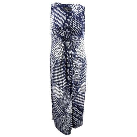 R&M Richards Women's Plus Size Embellished Maxi Dress (16W,