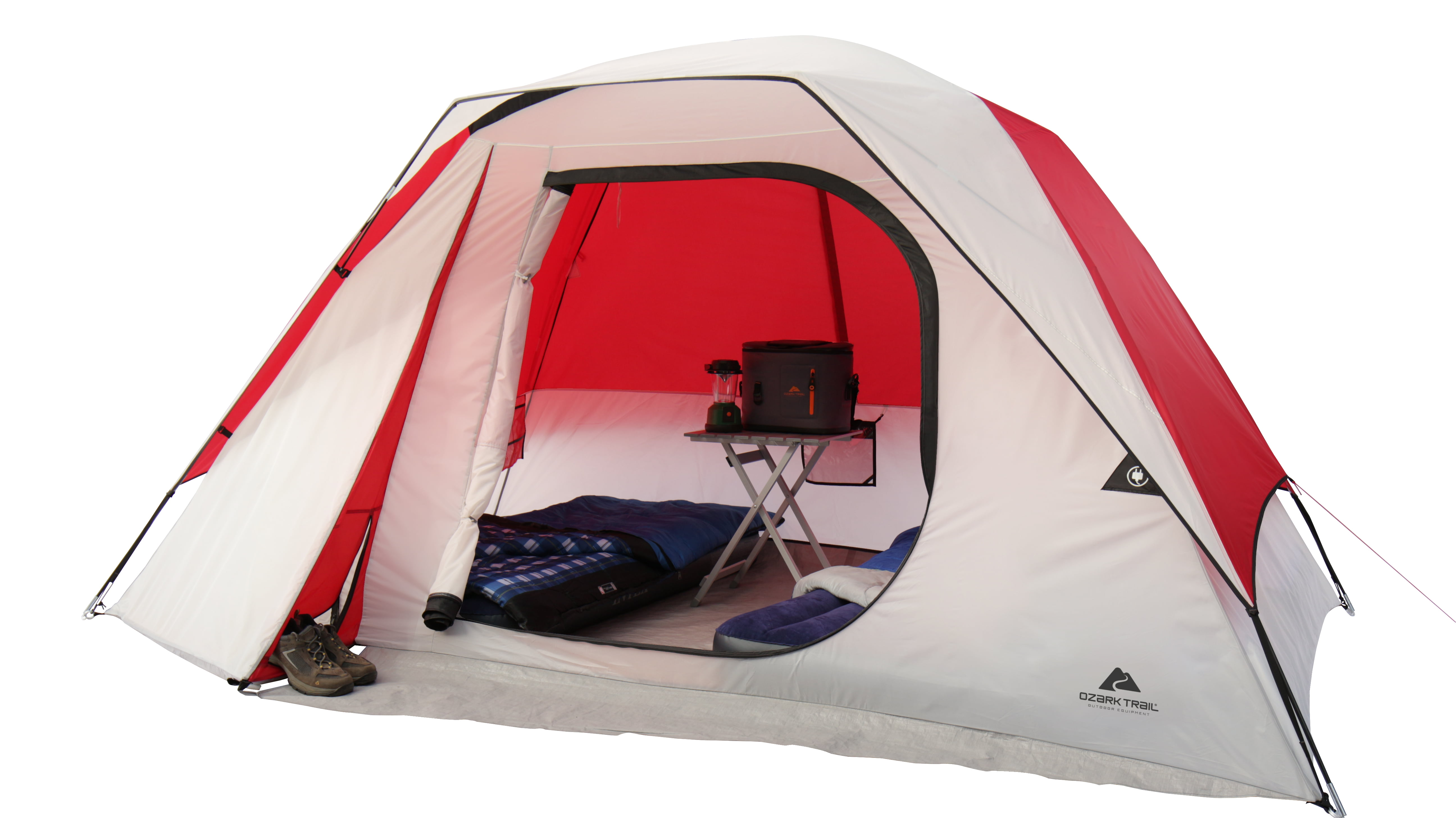 Ozark Trail Orange 2 person Dome Tent Camping Festival Outdoor Hiking Canopies
