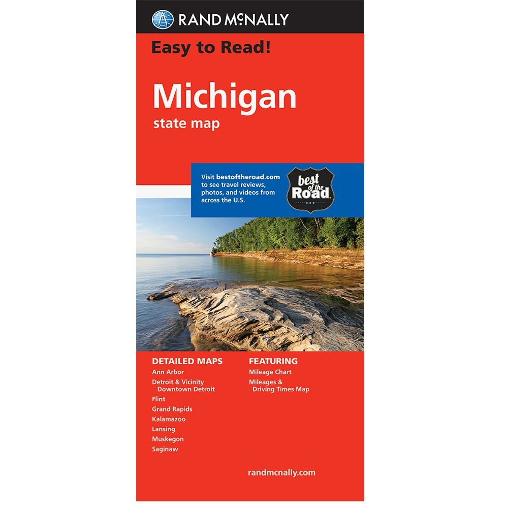 Easy To Read Michigan State Map