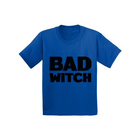 Awkward Styles Bad Witch Youth Shirt Halloween Witch Tshirt Funny Halloween Shirts for Kids Dia de los Muertos T Shirt Halloween Themed Holiday Shirts Day of the Dead Gifts Trick - Frases De Halloween Funny