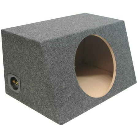 Asc Single 12  Subwoofer Sealed Universal Fit Angled Hatch Sub Box Speaker Enclosure  Dimensions  Width 22 1 4  X Height 12 1 2  X Depth One 10 1 4  X Depth Two    By American Sound Connection