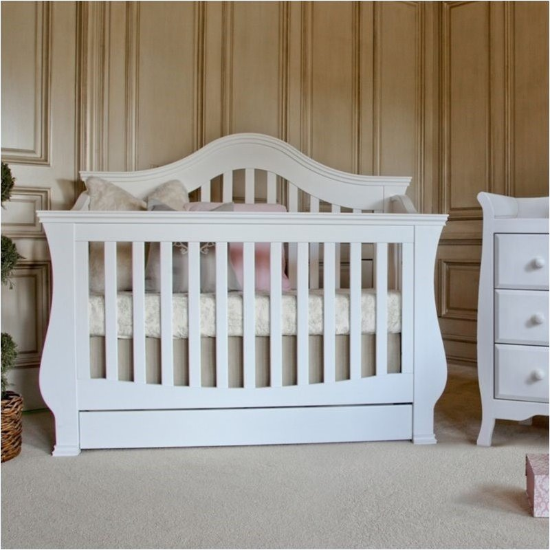 Bowery Hill 4-in-1 Convertible Crib with Toddler Rail in White