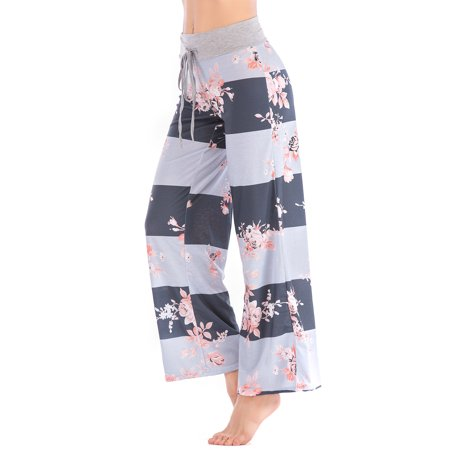 528cfb3f3bc Lelinta - LELINTA Fashion Women s Loose Fit Floral Printed Trousers Yoga Pants  Casual Pants Plus Size S-3XL - Walmart.com