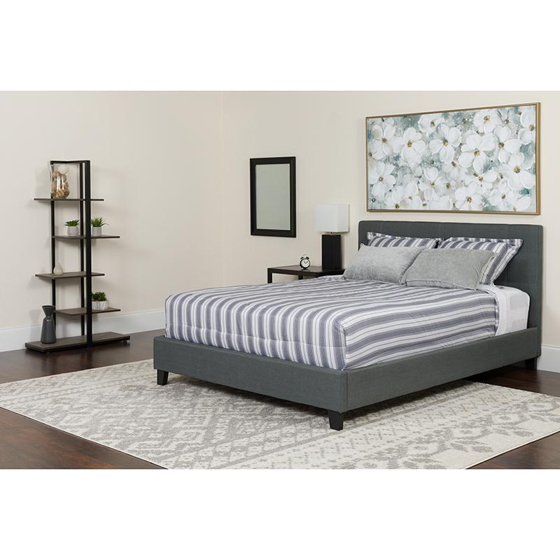 Twin Platform Bed-Light Gray - image 5 de 6