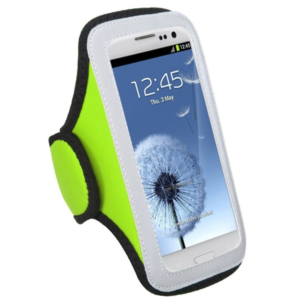 Insten Vertical Universal Light Green Sports Workout Exercise Running Gym Cycling Armband Case Phone Holder - image 3 of 3