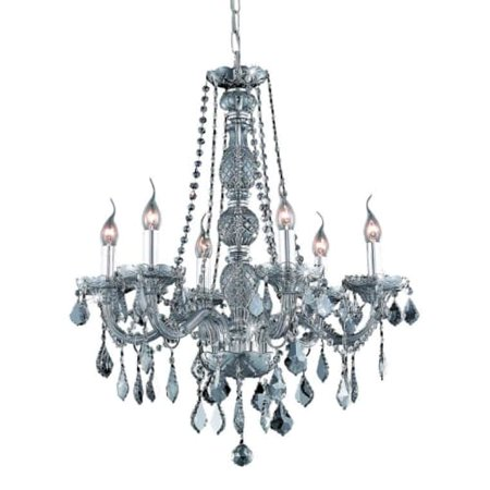 UPC 842814130555 product image for Elegant Lighting Value Verona 6LT Silver Shade Chandelier - V7856D24SS-SS/SS | upcitemdb.com