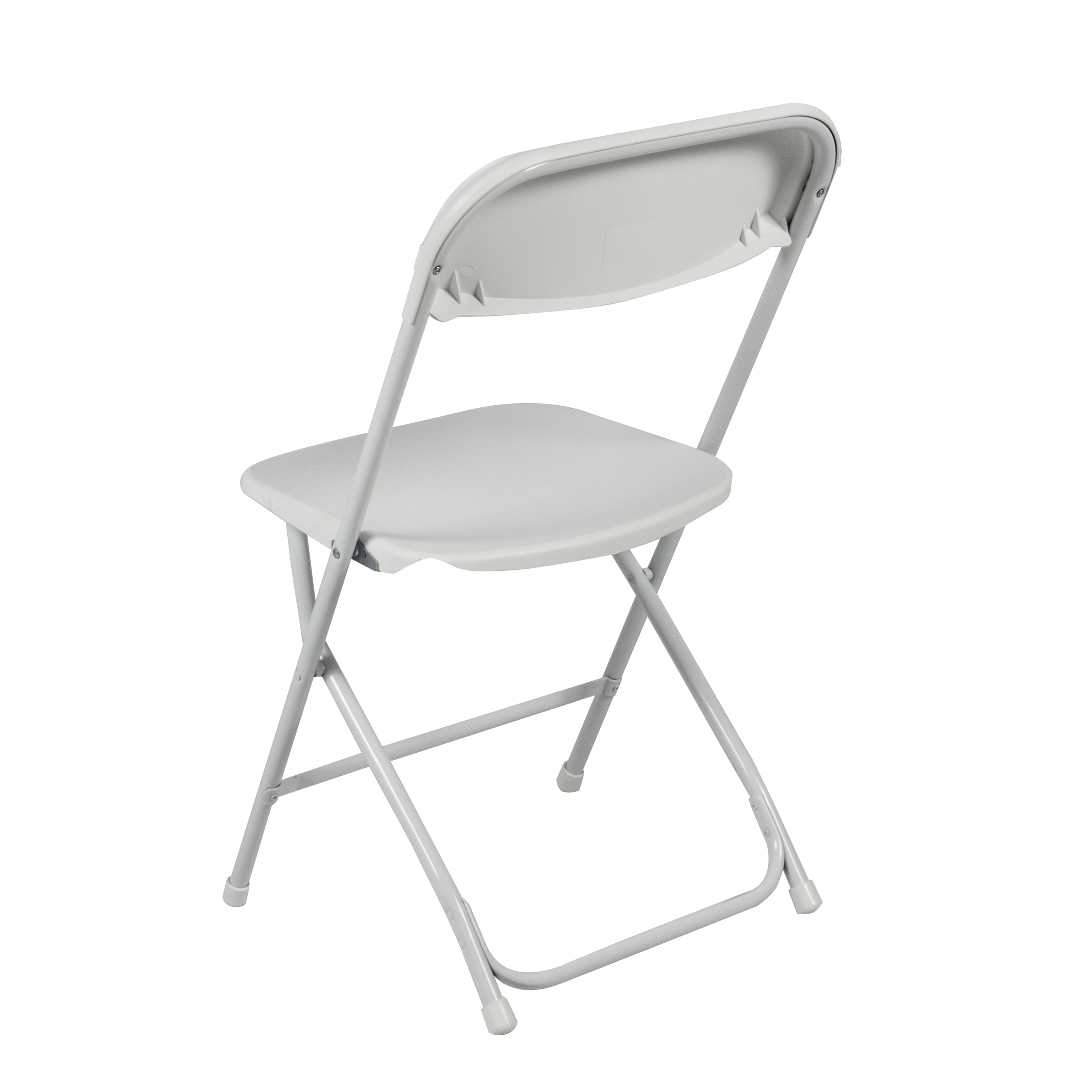 5-pack commercial white plastic folding chairs stackable wedding