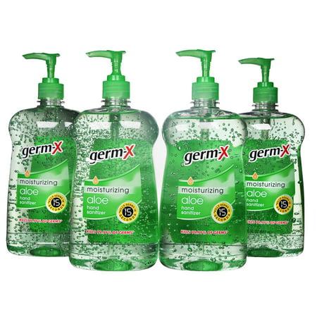 Hang Four ((Pack of 4) Germ-X Moisturizing Hand Sanitizer, Aloe, 30)