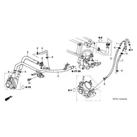 Heater Core Pipe (Honda 19510-PZD-A00 Heater Pipe Honda Element )