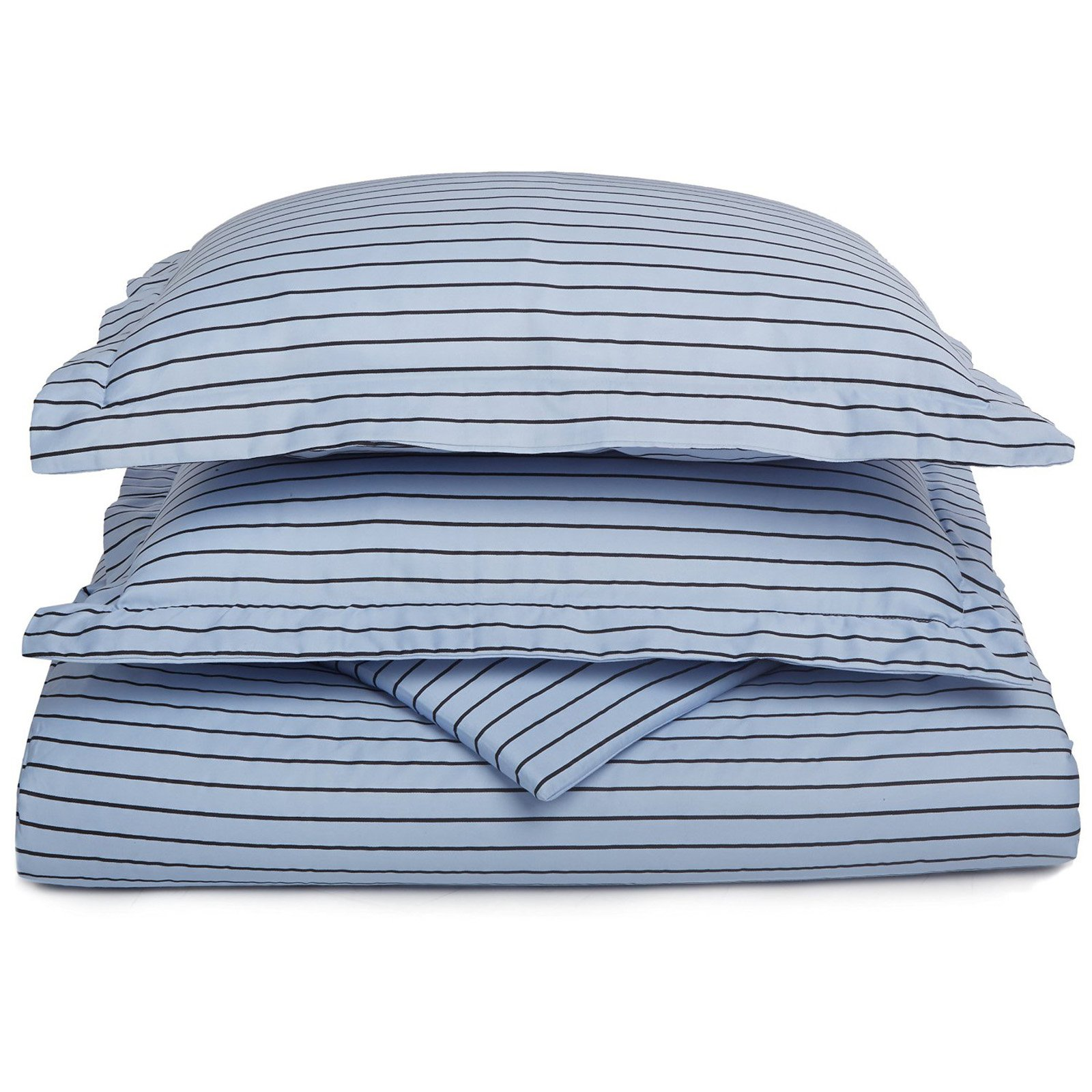 Superior 600 Thread Count Cotton Blend Bahama Stripe Duvet Cover Set