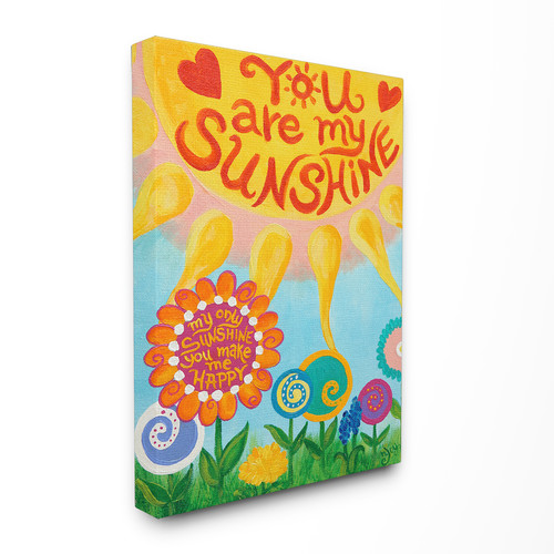 Stupell Industries The Kids Room You Are My Sunshine Canvas Wall Art