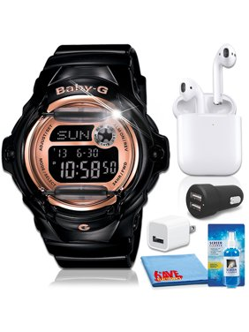 Casio Baby-G Whale Series Watch with Airpods 1 Bundle