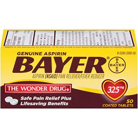 Bayer Genuine Aspirin Tablets, 325 mg, 50 count