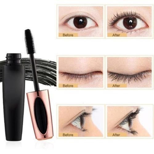 6172a1afe84 4D Silk Fiber Eyelash Mascara, Extension Makeup, Black Waterproof Kit Eye  Lashes - Walmart.com