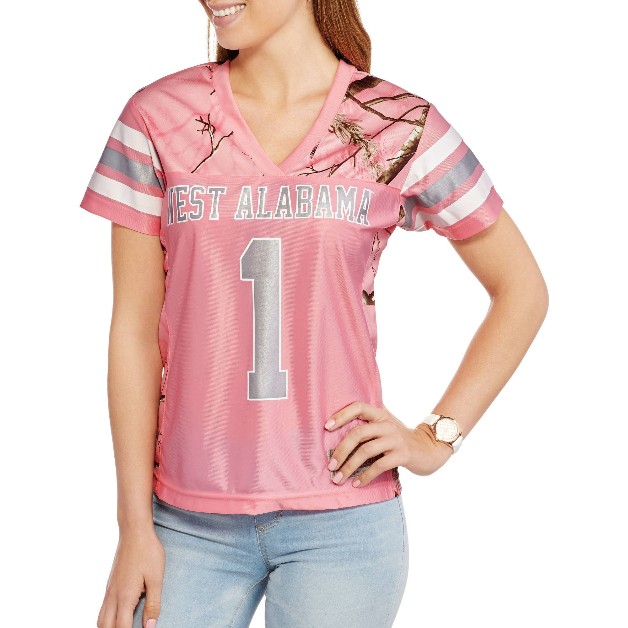 NCAA West Alabama Ladies Pink Game Day Jersey