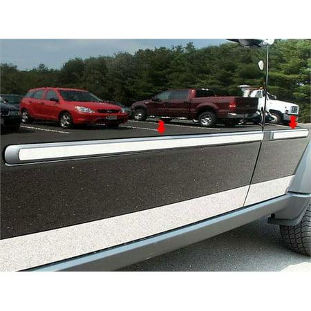 """Fits 2007-2011  DODGE NITRO 4-door, SUV (1"""" Width)-Stainless Steel ROCKER PANEL"""