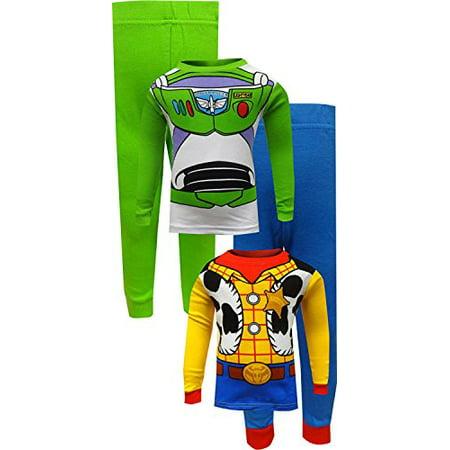 427572e9b Disney - Disney Pixar Toy Story Buzz Lightyear and Woody Cotton Toddler Boys  Combo Set Pajamas, 3T - Walmart.com