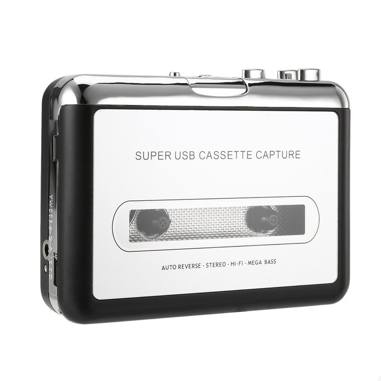 Top Quality USB2.0 Portable Tape to PC Super Cassette To MP3 Audio Music CD Digital Player Converter Capture Recorder +Headphone