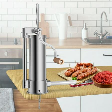 Sausage Stuffer Kit (Costway 6L 10LB Sausage Stuffer Maker Meat Filler Stainless Steel Commercial Restaurant )